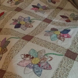 Flower Quilt  by Esther-Mae Tacker Beaird, my great grandmother.