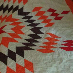 Chevron Quilt created by my great grandmother, Viola-Mae Golden-Fitzgerald-Maddox