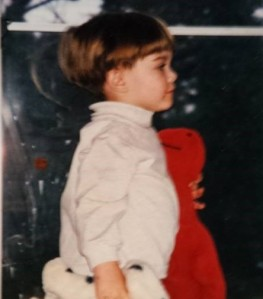 Michael at 2.5 He lived in his turtleneck and carried his dinosaur everywhere. (Tiffani Burnett-Velez/Ani Burnett)